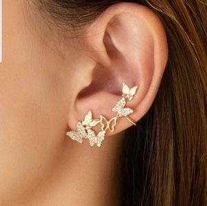 *Cheryl* Butterfly Post and Cuff earrings